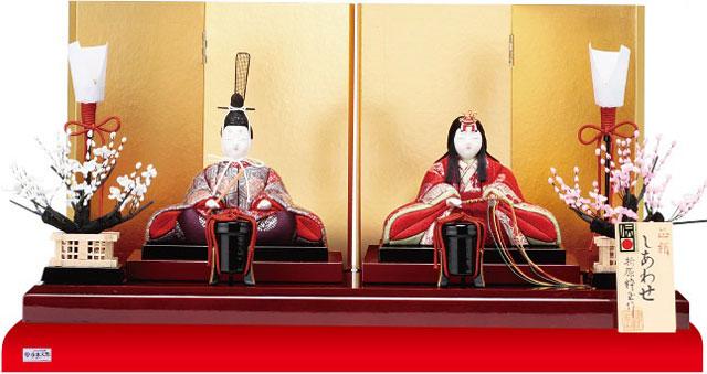 木目込人形親王 飾りの雛人形 No8709B 金彩有職