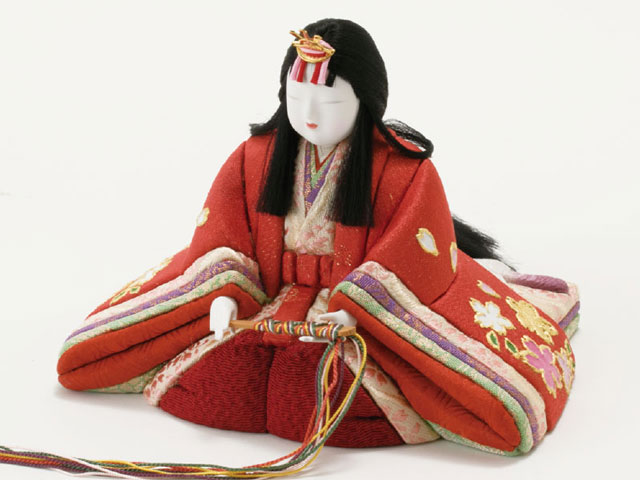 木目込人形親王 飾りの雛人形 No8720 弥生金彩雛 女雛