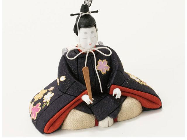 木目込人形親王 飾りの雛人形 No8720 弥生金彩雛 男雛