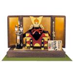 五月人形・国宝模写鎧兜 赤糸威 竹雀之兜飾り No311A