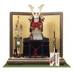 五月人形・青森 櫛引八幡宮所蔵 国宝模写 褄取白糸威大鎧