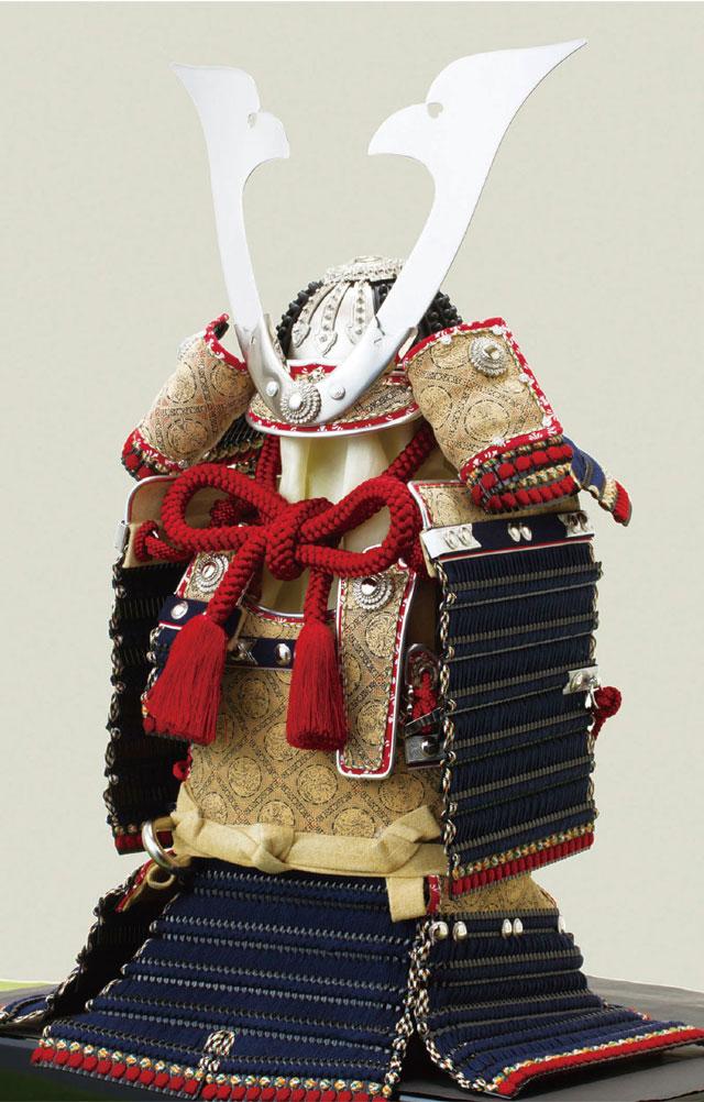 五月人形・厳島神社所蔵 国宝模写 紺糸威模写鎧平台飾り No321F 鎧