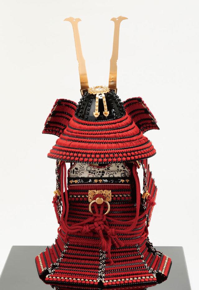 五月人形・愛媛県 大山衹神社所蔵 国宝模写 赤糸威胴丸鎧 No321H 鎧の背面