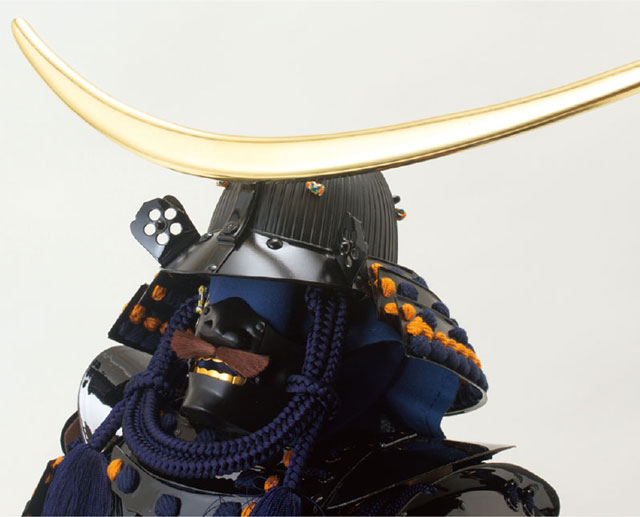 五月人形・仙台市博物館所蔵 重要文化財 黒漆五枚胴具足模写 兜の部分