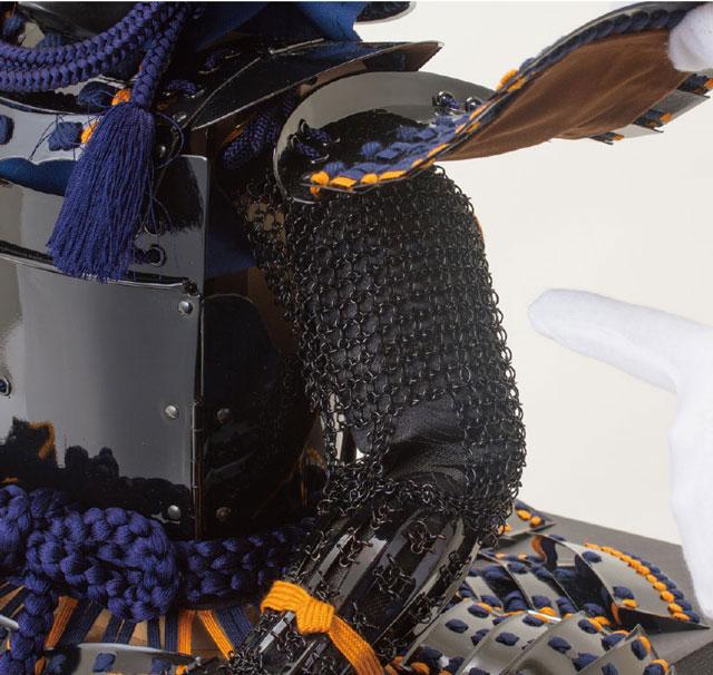 鎧飾り・伊達政宗公 仙台市博物館所蔵 重要文化財 黒漆五枚胴具足模写 胴の部分
