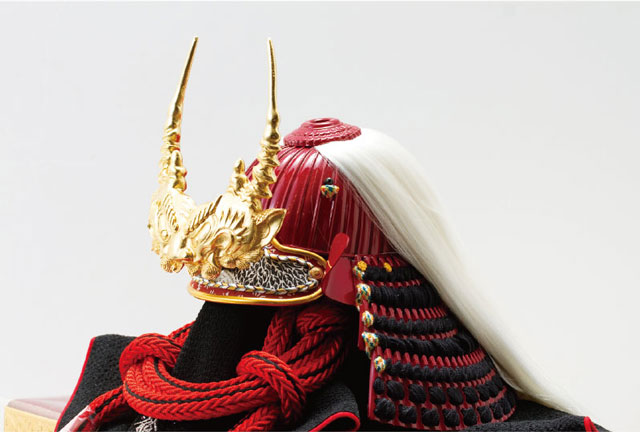 五月人形・武田信玄公創作兜(歯噛前立)陣幕飾りNo4193 兜の部分