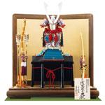 五月人形・国宝模写 厳島神社所蔵 浅葱糸威大鎧模写平台飾り No321