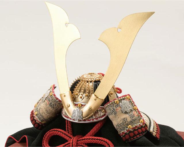 五月人形・国宝模写鎧兜 白糸威褄取り大鎧の兜平台飾り No311C 兜本体