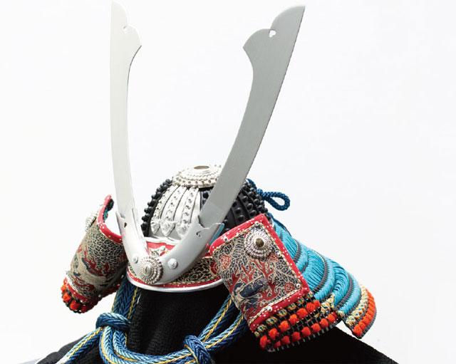 五月人形・国宝模写 広島 厳島神社所蔵  浅葱綾威兜飾り No311E 兜の本体