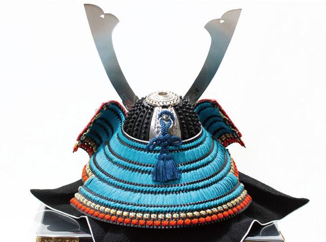 五月人形・国宝模写 広島 厳島神社所蔵  浅葱綾威兜飾り No311E 兜の背面