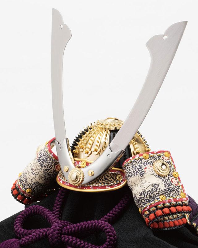 五月人形・重文模写 紫裾濃威大鎧 兜平台飾りNo311G 兜の本体