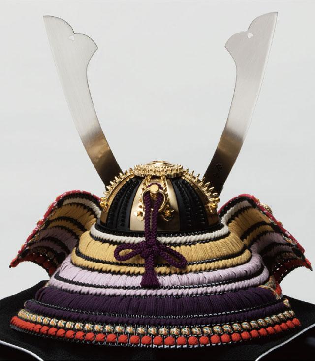 五月人形・重文模写 紫裾濃威大鎧 兜平台飾りNo311G 兜本体の背面
