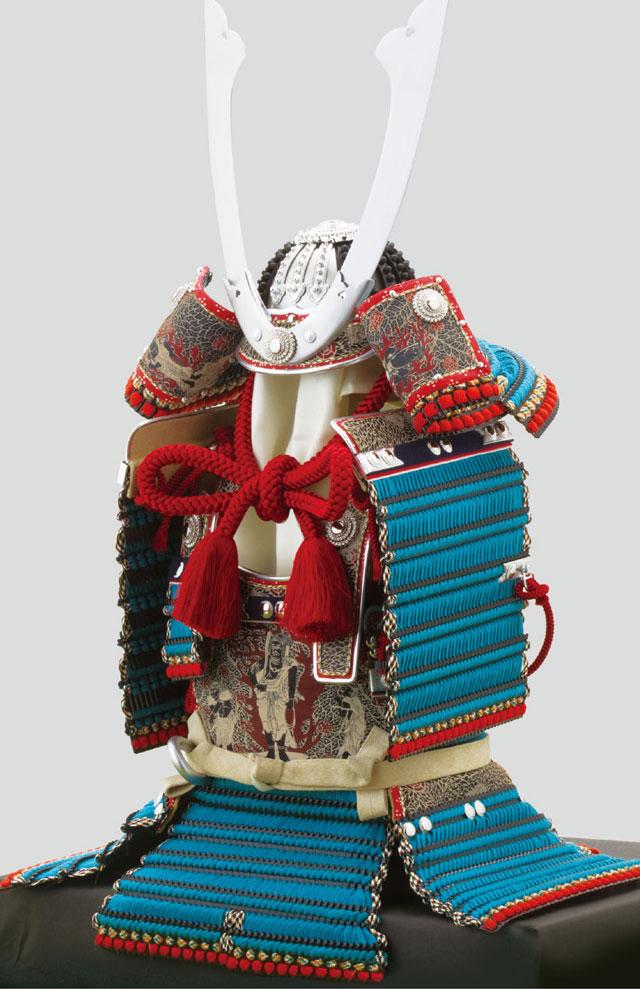 五月人形・国宝模写 厳島神社所蔵 浅葱糸威大鎧模写平台飾り No321 大鎧本体
