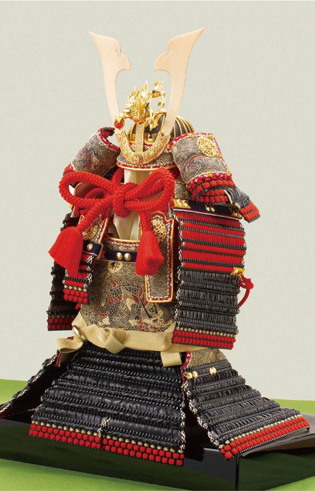 五月人形・ 厳島社所蔵 重要文化財 黒韋威肩紅の大鎧模写 鎧飾り No321I 大鎧本体