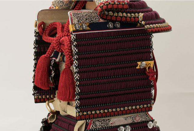 五月人形・国宝模写 大山祇神社所蔵 紫糸威大鎧平台飾り No321K 大鎧の大袖の部分