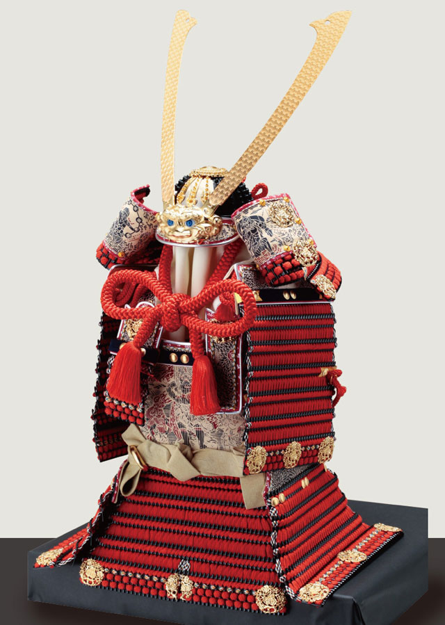 五月人形・春日大社所蔵 国宝模写紅糸威  梅飾りの大鎧 321L 鎧の本体