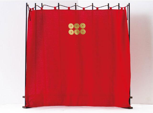 五月人形・真田幸村公兜(六連銭前立)陣幕飾りNo4171B 六文銭付陣幕
