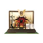 人気の五月人形・国宝模写 白糸威褄取り大鎧の兜平台飾り No311C