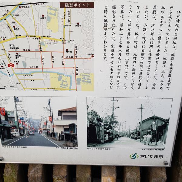 歴史と人形のまち岩槻 城下町の昭和半ばの街並み