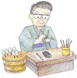 岩槻人形 雛人形・五月人形作り職人の頭師