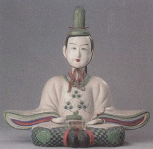 出雲今市土人形 白天神 島根県の出雲地方で作られた天神様。