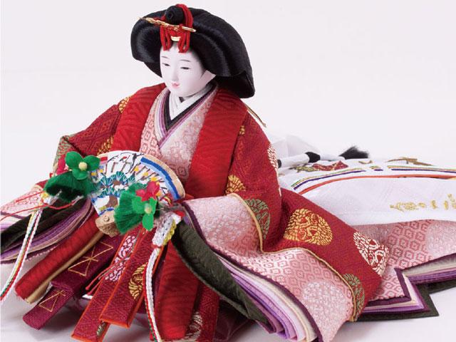 衣装着京小十番親王焼桐平台 飾りの雛人形 No109A 女雛の衣装とお顔