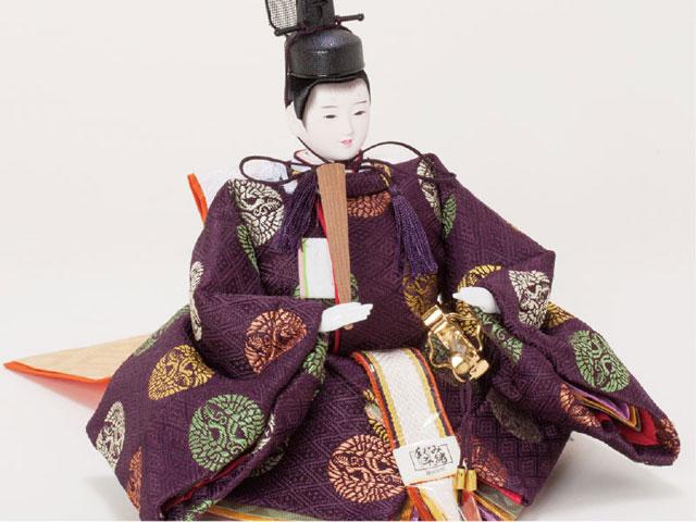 衣装着京小十番親王焼桐平台 飾りの雛人形 No109A 男雛の衣装とお顔