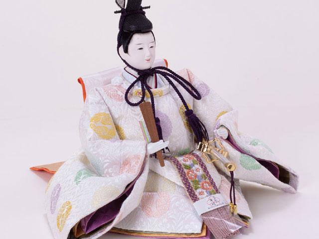 雛人形 京十番親王焼桐平台親王飾りNo1012 男雛の衣装とお顔