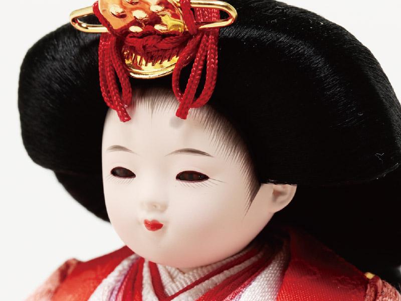 ミニ黒塗り平台飾り 小柳親王 女雛のお顔