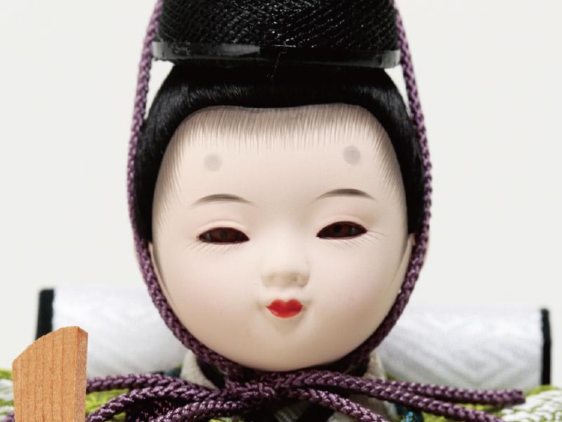 ミニ黒塗り平台飾り 小柳親王 男雛のお顔