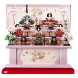 雛人形・京小十番親王柳官女五人飾り塗り桐三段飾りNo3001B