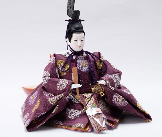 雛人形・京十番焼桐平台親王飾りNo1014C  男雛の衣装とお顔