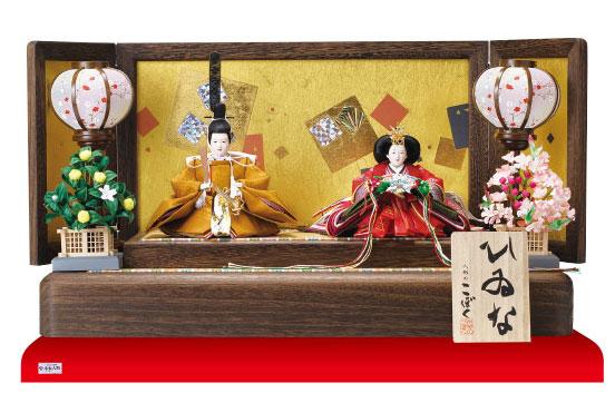 雛人形・京十二番焼桐平台親王飾り No1203