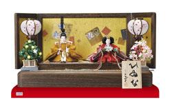 雛人形・京十二番親王焼桐平台飾りミニサイズセット No1203
