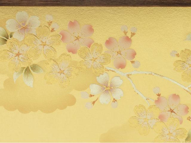 雛人形・京小十番親王焼桐平台飾りコンパクトセット No1009C ひな屏風