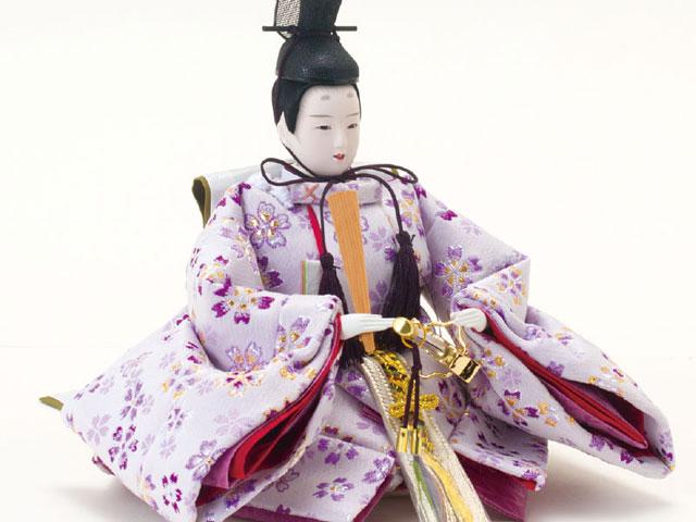 雛人形・京小十番親王焼桐収納飾りセット No1020 男雛の衣装とお顔