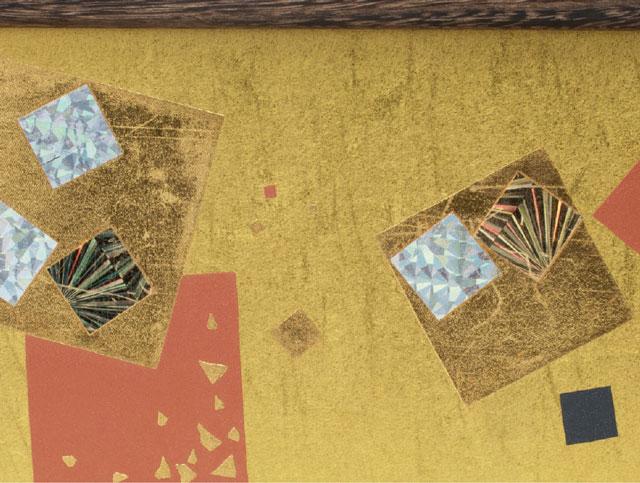 雛人形・京十二番親王焼桐平台飾りミニサイズセット No1203 ひな屏風