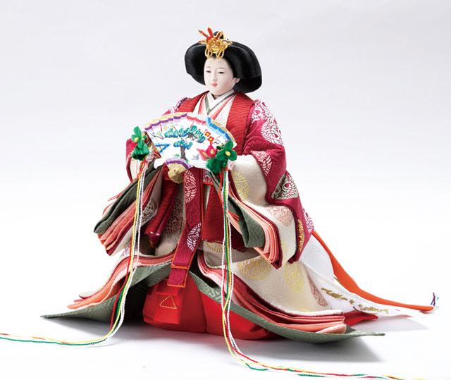 雛人形・衣装着立雛京十番親王 飾り No10305 女雛の衣装とお顔