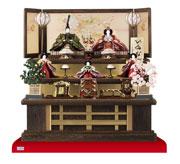 豪華な雛人形・八番親王六寸官女付焼桐三段飾りセット No3031B