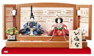 雛人形 塗り桜ミニ平台飾り 京十二番親王 【商品番号】1301