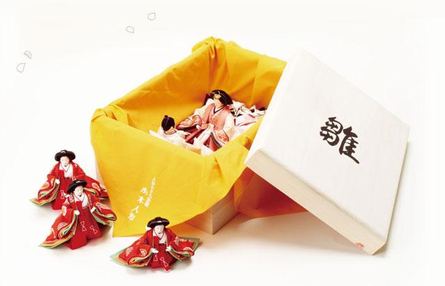 雛人形 親王・官女の桐箱