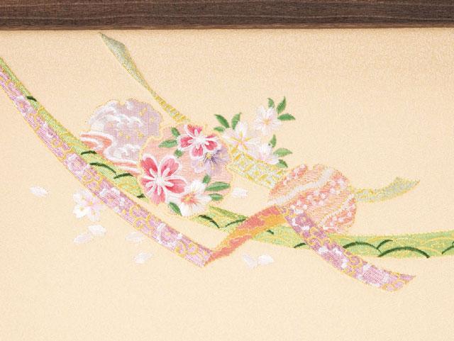 京十二番親王小柳官女付焼桐三段収納飾り No2996 雛屏風