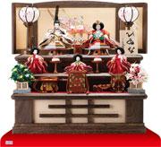京十二番親王小柳官女付焼桐三段収納飾り No2996