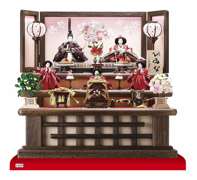 雛人形・京小十番親王柳官女付焼桐三段飾り No3000C