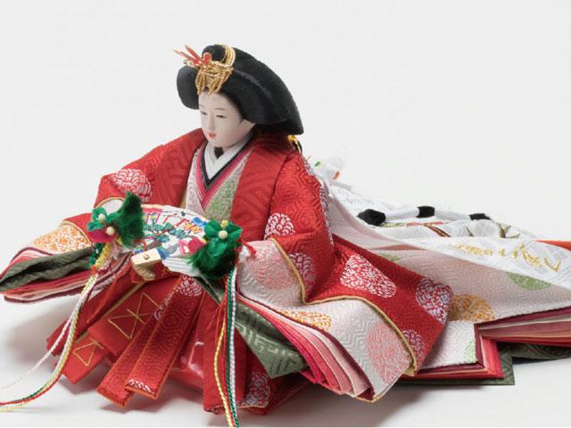 雛人形・京小十番親王焼桐平台飾り No1009B 女雛の衣装とお顔