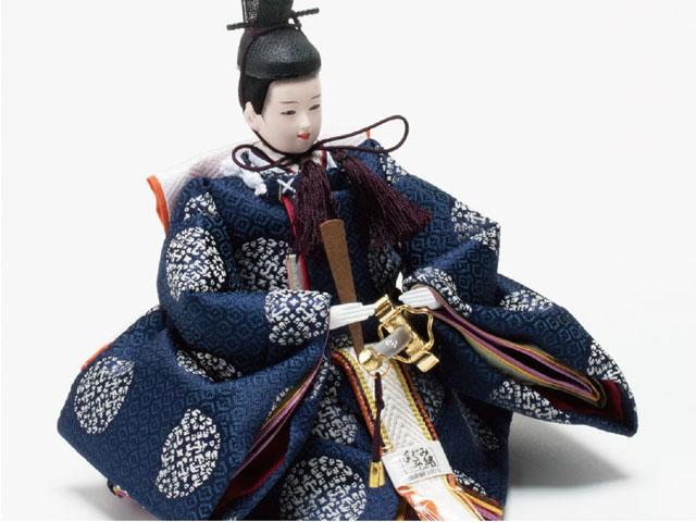 雛人形・京小十番親王焼桐平台飾り No1009B 男雛の衣装とお顔