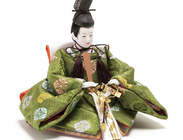 雛人形・京十二番焼桐平台親王飾りNo1401  男雛の衣装とお顔