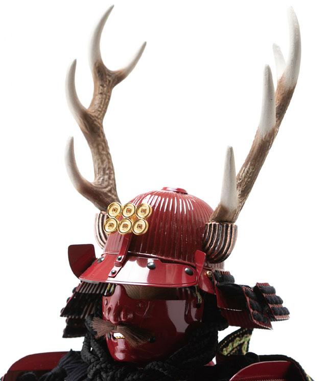 五月人形・戦国武将鎧兜・真田幸村公創作鎧  赤備之具足平台飾り 兜