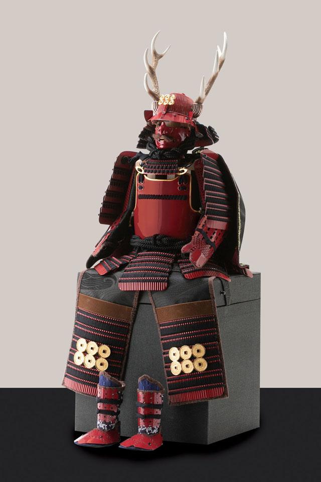 五月人形・戦国武将鎧兜・真田幸村公創作鎧  赤備之具足平台飾り 鎧本体
