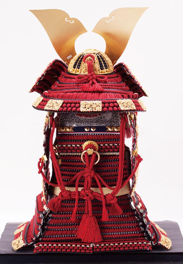 五月人形・国宝模写鎧兜 「菊一文字の大鎧」三分之一 焼桐平台飾り No321B 大鎧背後